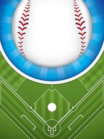 棒球宣传册,矢量插图