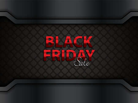 Black friday sale layout background, vector illustration