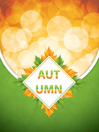 Autumnal sale background, vector illustration Illustration