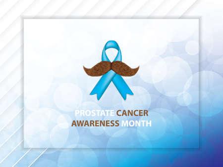 Prostate Cancer Awareness Month.Cancer Ribbon Background.Vector illustration.