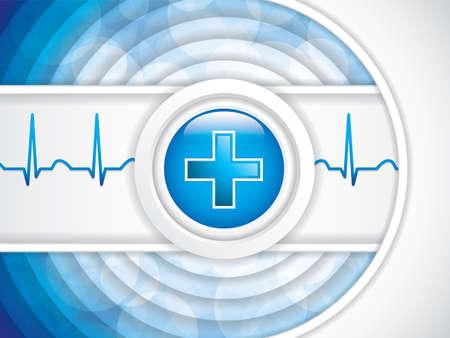 Blue medical background, vector illustration Vetores