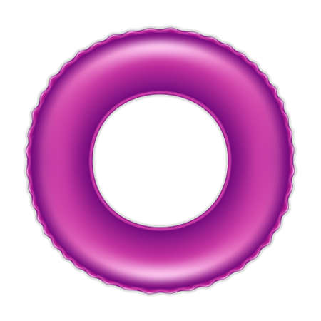 Purple swimming ring isolated on white