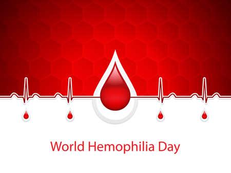World hemophilia day, vector illustration Vektorové ilustrace