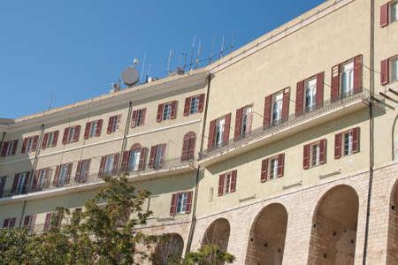 distric: Windows in storic distric of Cagliari