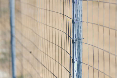 curios: Wire Mesh - Point of view Stock Photo