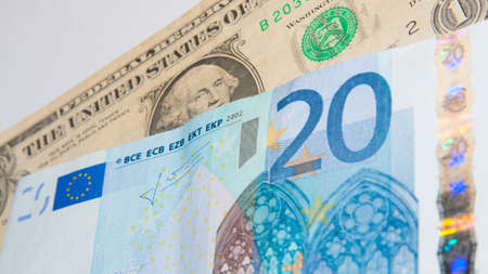 superpowers: Dollar - Euro - Financial superpowers Stock Photo
