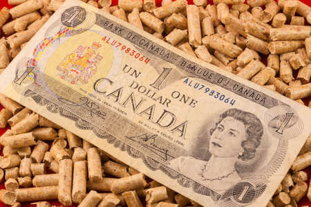 queen elizabeth: Saving Pellet Canada Queen Elizabeth Stock Photo