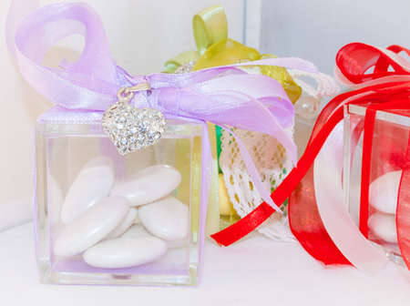 Box for wedding confetti. Little object for wedding.