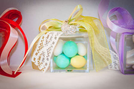 confetto: Box for wedding confetti. Little object for wedding.