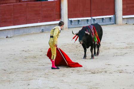 las ventas: Bullfighting in las ventas Madrid Spain.