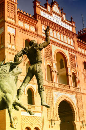 Statue of Bullfighter in Madrid Las Ventas Stock Photo