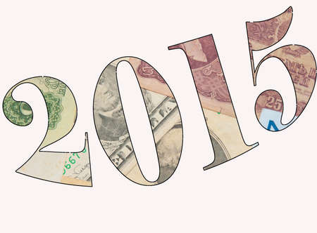 superpowers: Financial Superpower -Growth of economy 2015 Stock Photo