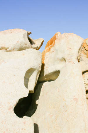 especially: Especially Sardinian granite in the form of demons Stock Photo