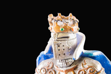 pygmy: Small medieval knight. Macro image of a little toy model