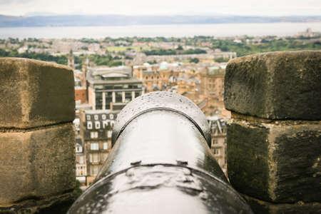 Cannon on Edimburgh. Image take at Edimburgh Castle photo
