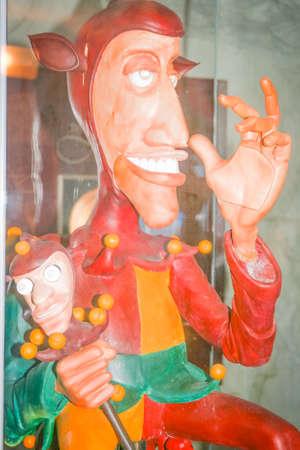 wooden puppet: T�teres de madera de un buf�n en Stirling Castillo Escocia