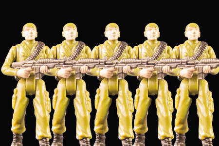 counterterrorism: Toy soldiers of navy seals. Miniature of Soldiers Stock Photo
