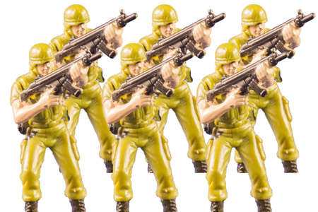 counter terrorism: Toy soldiers of navy seals. Miniature of Soldiers Stock Photo