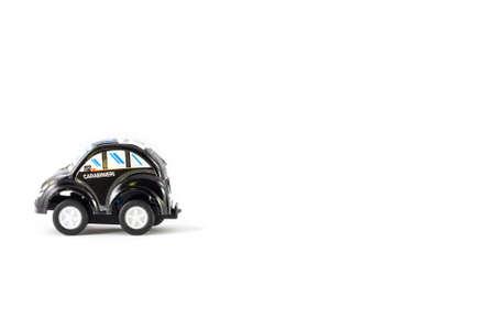 arma: Carabinieri Toy Car. Italian police army . Stock Photo