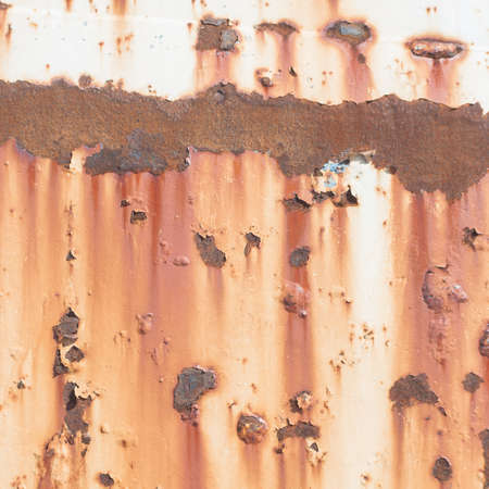 oxidate: Inside the rust. Rusted Background . Stock Photo