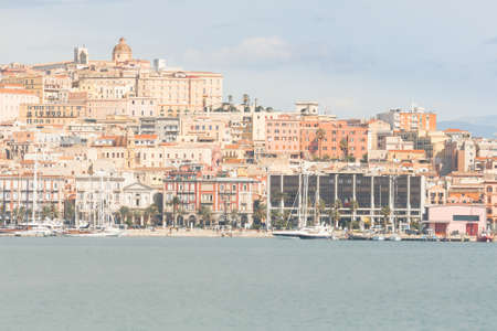 regional: Cagliari , Seafront and Port. Roma Street and Palace of the Regional Council of Sardinia.