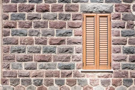basalt: Window on the wall of basalt .