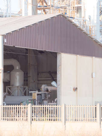 machinery: shed industrial machinery. Shed in industrial place
