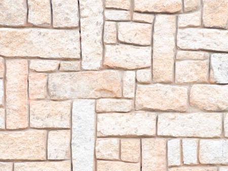 obrero: Basalto bloques alineados. Cerca de un muro de piedra. Foto de archivo
