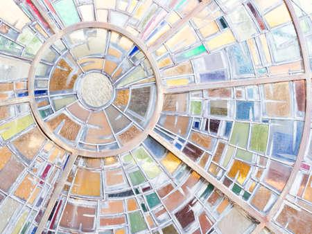 austere: colored windows church. colored glasses .