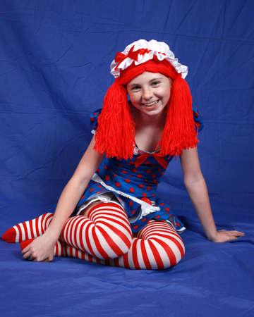 Ragdoll Girl Zdjęcie Seryjne