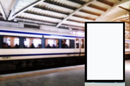 Mock Up Blank Advertising Blue Billboard Frame With Copy