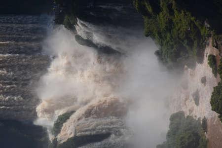 The rebound of water, Iguazu Falls