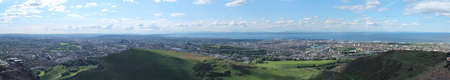 Panoramic photo of Edinburgh, view from Arthur photo
