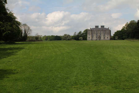Portumna Castle in Ireland, with view of the garden. The castle is a semi-fortified house built before 1618.  Stock Photo - 16818250