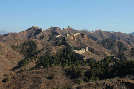 The Great Wall of China, an UNESCO world heritage site, in autumn
