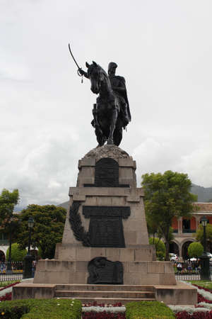 honouring: Monument honouring General Sucre, in Ayacucho, Per