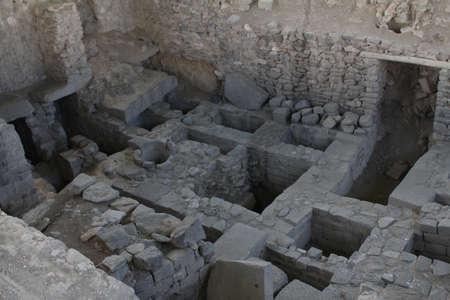 Ancient ruins built by the Wari culture Standard-Bild