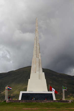 Obelisk standing 44 meters tall, celebrating the victorious battle of Ayacucho of 1824, where Peru gained its independence from Spain