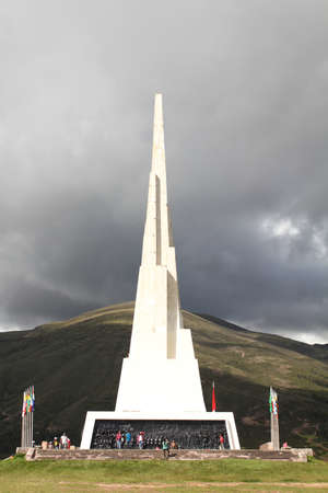 gained: Obelisk standing 44 meters tall, celebrating the victorious battle of Ayacucho of 1824, where Peru gained its independence from Spain