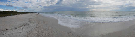 Panoramic view of the Barefoot Beach State Preserve in Florida, a land tortoise sanctuary Standard-Bild