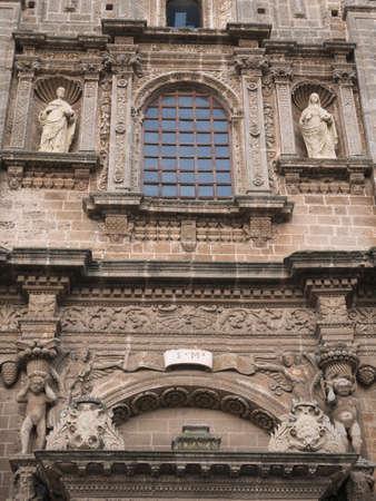 Façade of old characteristic romanic church in Nardo', Italy