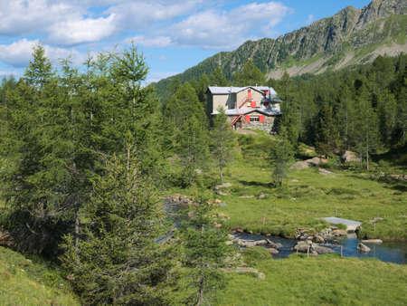 Bosio mountain lodge in Valmalenco, northern Italy