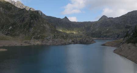 Lake Gemelli basin on the Bergamo Alps, northern Italy Standard-Bild