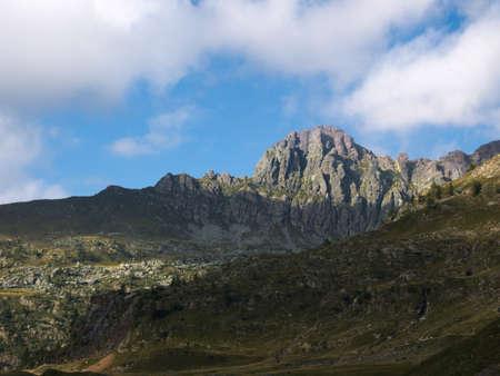 Pizzo del becco peak on the Bergamo Alps, northern Italy
