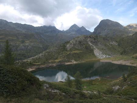 Small alpine lake on the Bergamo Alps, northern Italy Stock Photo - 85264940