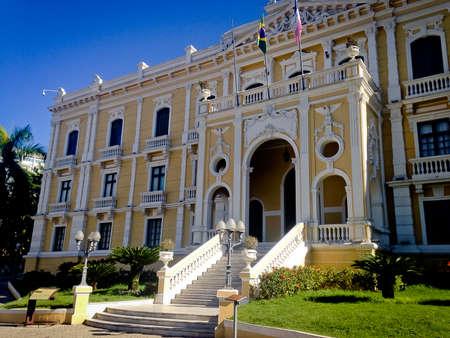 ade: Façade of Anchieta Palace and garden Editorial