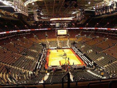 cancha de basquetbol: gran opini�n de baloncesto Arena  Foto de archivo