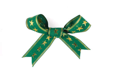 adventskranz: green ribbon on white