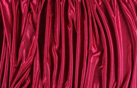 shiny red satin fabric background