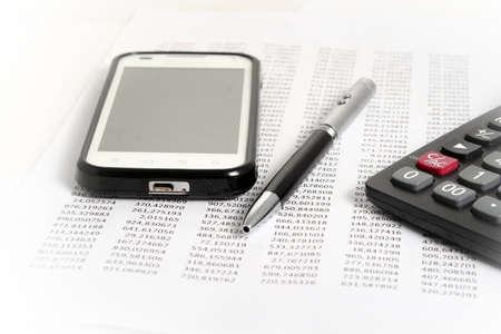 Accounting en financiering Stockfoto